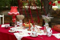 Elegancki herbaciany stół Zdjęcie Royalty Free