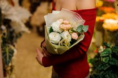 Elegancki i elegancki bukiet kwiaty w lekkich brzmieniach Zdjęcie Royalty Free