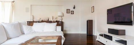 Elegancki i elegancki żywy pokój Obraz Stock
