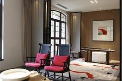 Elegancki i jaskrawy siedzący pokój Obraz Stock