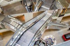 Elegancki i modny eskalator Fotografia Royalty Free