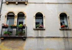 Elegancki i wyróżniający kwiat pałac w Vicenza w Veneto (Włochy) Fotografia Royalty Free