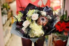 Elegancki i elegancki zima bukiet kwiaty Zdjęcie Stock
