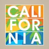 Elegancki Kalifornia projekta plakat Obraz Stock