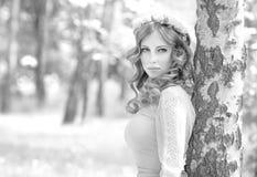Elegancki kobieta portret Obraz Royalty Free