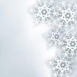 Elegancki kreatywnie abstrakcjonistyczny tło, 3d płatek śniegu Zdjęcia Royalty Free