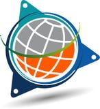 Elegancki kula ziemska logo ilustracja wektor