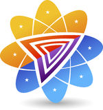 elegancki kwiatu logo ilustracji