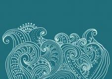 Elegancki kwiecisty tło, ręka rysujący kwiaty Obrazy Royalty Free