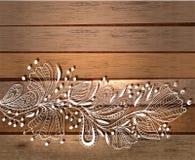 Elegancki kwiecisty tło, ręka rysujący kwiaty Obrazy Stock