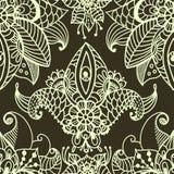 Elegancki kwiecisty tło, ręka rysujący doodle kwiecisty element, morze Fotografia Royalty Free