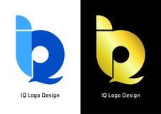 Elegancki logotypu inicjał IQ logo projekt ilustracja wektor