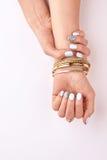 Elegancki manicure i akcesoria Zdjęcia Royalty Free