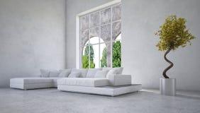 Elegancki nowożytny żywy izbowy wnętrze royalty ilustracja