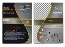 Elegancki, nowożytny i fachowy broszurka projekt 2019, ilustracja wektor