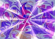 Elegancki nowożytny jedwabniczej tkaniny abstrakcjonistyczny projekt w purpur menchiach tonuje Zdjęcia Royalty Free