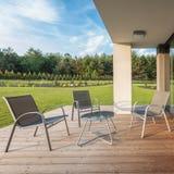 Elegancki patio relaksować fotografia stock