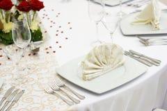 elegancki położenia stołu ślub Zdjęcia Royalty Free