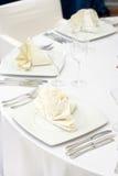 elegancki położenia stołu ślub Zdjęcia Stock