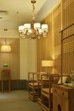 Elegancki podsufitowy oświetlenie, orientalny element Obraz Stock