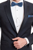 Elegancki pojęcie używać kostium i bowtie Fotografia Royalty Free