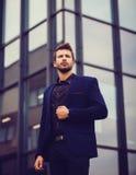 Elegancki przystojny biznesowy mężczyzna Fotografia Stock