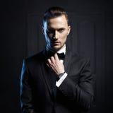 elegancki przystojny mężczyzna Obraz Royalty Free