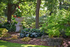 Elegancki Publc ogród w Amherstburg, Ontario, Kanada zdjęcie royalty free