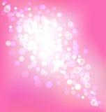 Elegancki różowy tło z bokeh światłami ilustracji