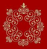 elegancki ramowy rocznik przeciw - wirowe zdjęcia royalty free