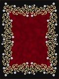 elegancki ramowy rocznik przeciw - wirowe Obrazy Royalty Free