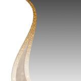 Elegancki srebro, połyskuje złotego, białego tło dla i bożych narodzeń lub nowego roku Zdjęcia Stock