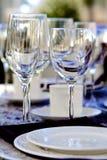Elegancki Stemware zdjęcia stock