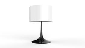 Elegancki stołowej lampy 3d rendering na białym tle Obrazy Royalty Free