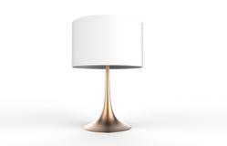 Elegancki stołowej lampy 3d rendering na białym tle Obrazy Stock