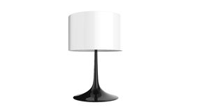 Elegancki stołowej lampy 3d rendering odizolowywający na białym tle Obraz Royalty Free