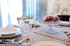 Elegancki stołu set dla śniadania lub lunchu Obraz Royalty Free