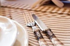 Elegancki stołu set dla śniadania lub lunchu Zdjęcia Stock