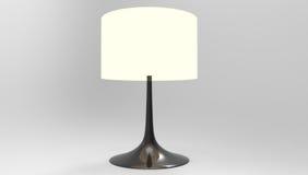Elegancki stołowej lampy 3d rendering na popielatym tle Fotografia Royalty Free