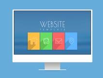 Elegancki strona internetowa szablonu projekt Obrazy Stock