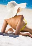 elegancki sunbather zdjęcia royalty free
