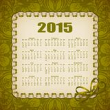 Elegancki szablon kalendarz Obraz Royalty Free