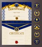 Elegancki szablon świadectwo, dyplom Zdjęcia Royalty Free