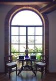 Elegancki Szklany Dużych rozmiarów okno Obrazy Stock