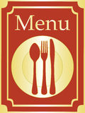 elegancki tło menu ilustracji