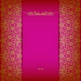 Elegancki tło z koronkowym ornamentem ilustracja wektor