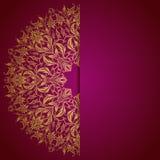 Elegancki tło z koronkowym ornamentem ilustracji