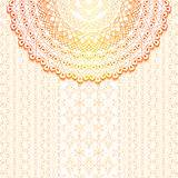 Elegancki tło z koronkowym ornamentem i miejsce dla teksta ornament kwiecisty Islam, język arabski, indianin, motywy ilustracja wektor