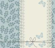 Elegancki tło z liśćmi i koronki ramą Obraz Royalty Free