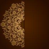 Elegancki tło z koronkowym ornamentem Fotografia Royalty Free